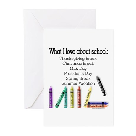 Things I Love About School! Greeting Cards (Packag
