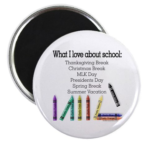 Things I Love About School! Magnet