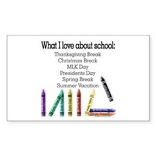 Things I Love About School! Rectangle Decal