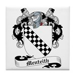 Menteith Family Crest Tile Coaster