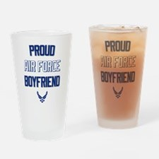 Proud Air Force Boyfriend Drinking Glass