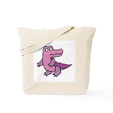 Purple Alligator Tote Bag