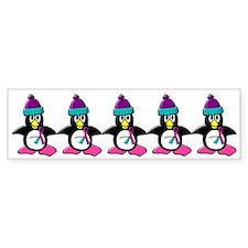 Winter Penguin 1 (Thyroid) Bumper Bumper Sticker