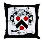 Mertoun Family Crest Throw Pillow