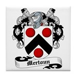 Mertoun Family Crest Tile Coaster