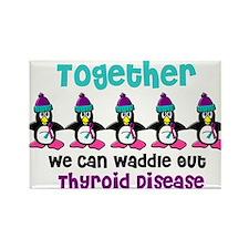 Winter Penguin 4 (Thyroid Disease) Rectangle Magne