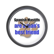 Spanish Mastiffs man's best friend Wall Clock