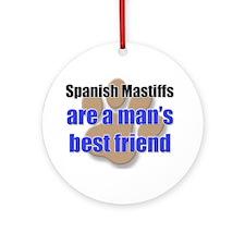 Spanish Mastiffs man's best friend Ornament (Round