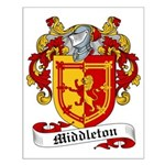 Middleton Family Crest Small Poster