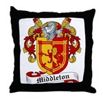 Middleton Family Crest Throw Pillow