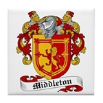 Middleton Family Crest Tile Coaster