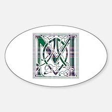 Monogram-MacFarlane hunting Sticker (Oval)
