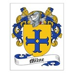 Milne Family Crest Small Poster