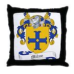 Milne Family Crest Throw Pillow