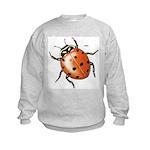 Ladybug Beetle (Front) Kids Sweatshirt