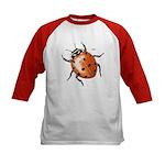 Ladybug Beetle (Front) Kids Baseball Jersey