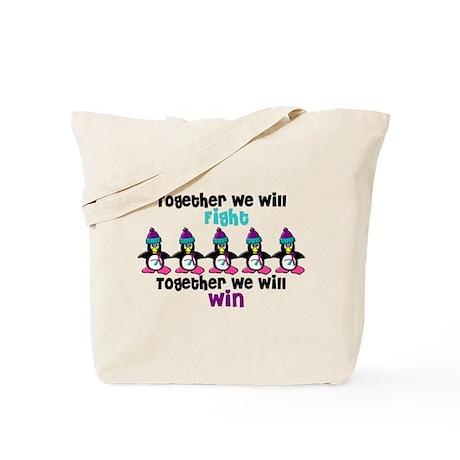 Winter Penguin 5 (Thyroid) Tote Bag