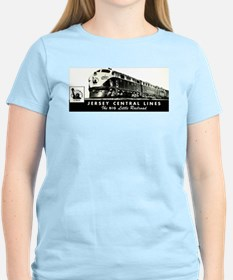 Jersey Central Lines Women's Pink T-Shirt