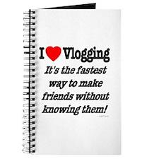 I Love Vlogging Friends Journal