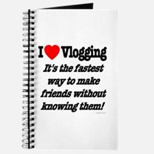 I Love Vlogging Friends Journal