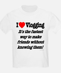 I Love Vlogging Friends T-Shirt