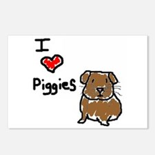 I love Piggies Postcards (Package of 8)