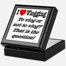 To vlog or not to vlog Keepsake Box