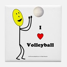 Volleyball Happy Tile Coaster