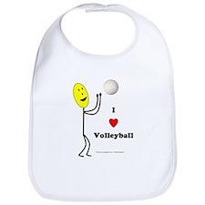 Volleyball Happy Bib