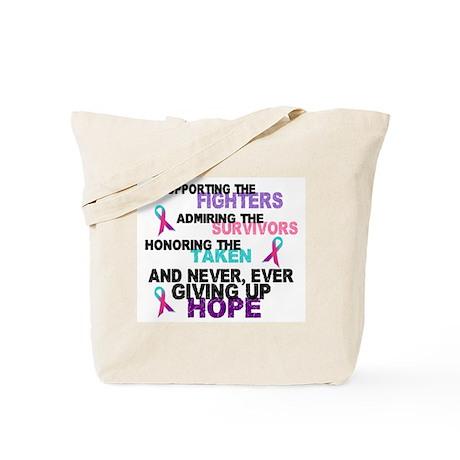 Fighters Survivors Taken 3 (Thyroid) Tote Bag