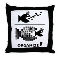 Organize Fish Throw Pillow