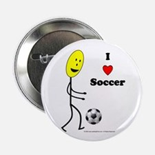 """Soccer Happy 2.25"""" Button (10 pack)"""
