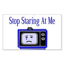 Stop Staring Rectangle Decal