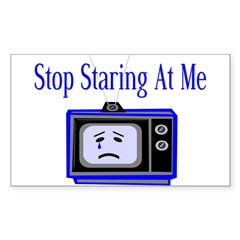 Stop Staring Rectangle Sticker 10 pk)
