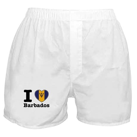 I love Barbados Boxer Shorts