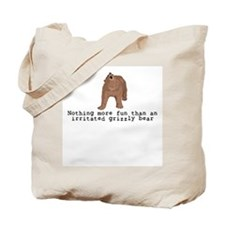Irritated Grizzly Tote Bag