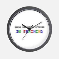 Human Resources Officer In Training Wall Clock