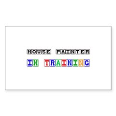 House Painter In Training Rectangle Decal