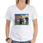 ST. FRANCIS + OES Women's V-Neck T-Shirt