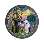 ST. FRANCIS + OES Wall Clock