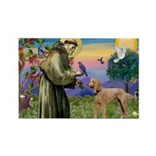 St Francis / Std Poodle(a) Rectangle Magnet