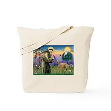 St Francis / Std Poodle(a) Tote Bag