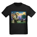 St Francis / Pug Kids Dark T-Shirt