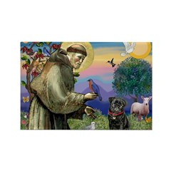 St Francis / Pug Rectangle Magnet