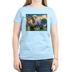 St Francis / Pug Women's Light T-Shirt