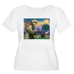 St Francis / Pug T-Shirt