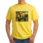 St Francis / Pug Yellow T-Shirt