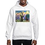 St Francis / Rottweiler Hooded Sweatshirt