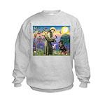 St Francis / Rottweiler Kids Sweatshirt