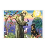 St Francis / Rottweiler Postcards (Package of 8)